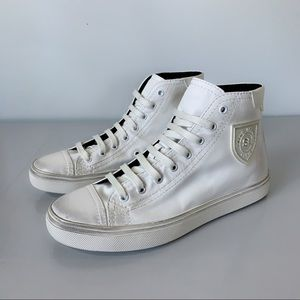 ⭕️ YSL SAINT LAURENT Sneakers White Leather 7